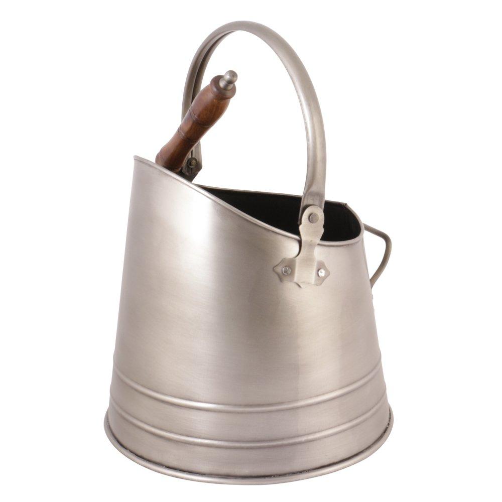 Cubo de metal para transportar cenizas con asa de transporte y pala