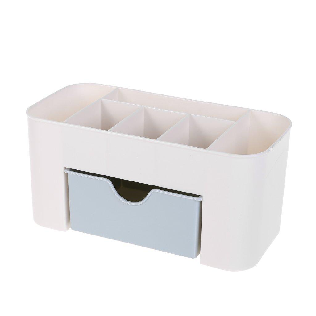 Plastik UOTA Kosmetik-Organizer für Make-up blau 22cmx10.5cmx10cm/8.67inx4.14inx3.94in app Aufbewahrungsbehälter aus Kunststoff mit Schublade für Frauen