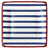4th of July Party Supplies Paper Plates Salad Desert Size Bretagne Blue 16 Count 7 inch Square