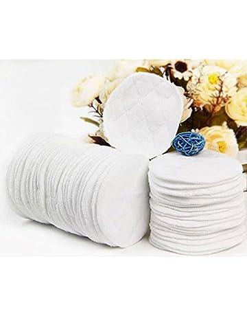 Almohadillas de pecho reutilizables y lavables, de algodón, antigoteo, hipoalergénicas, 10 unidades