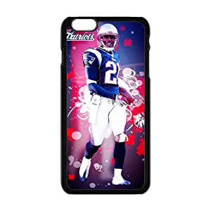 Sport NFL New England Patriots Print tom brady Black Case With Hard Shell Cover for iPhone 6 Case (4.7inch) -JUST do it ,style 7