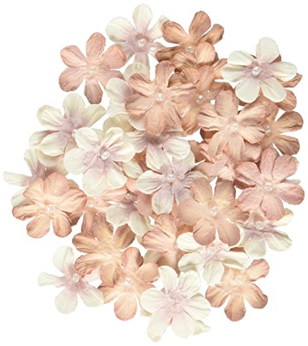 (PETALOO Penny Lane Mini Pearl Daisies (40 Pack), 0.75