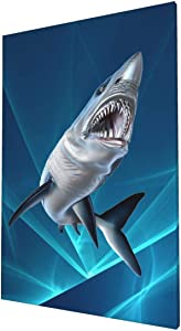 "Gosawel Canvas Wall Art Mako Shark Painting 16""X24"" Canvas Art Wall Art for Bedroom Living Room Kitchen Wall Decor"