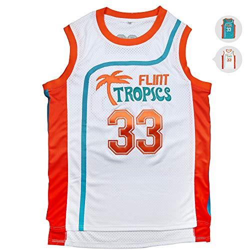Yeee JPEglN Moon 33 Flint Tropics Basketball Men Jersey S-XXXL Green (White, S)]()