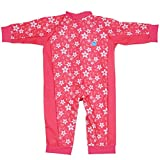 Splash About Girl's Sun Protection UV All-in-One Sun/Eczema Suit - Pink Blossom, 6 - 12 Months