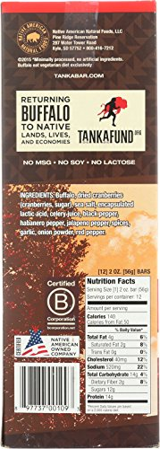 Bison Pemmican Meat Bar with Buffalo and Cranberries by Tanka, Gluten Free, Beef Jerky Alternative, Slow Smoked Original, 2 Ounce Bar, Pack of 12 by Tanka (Image #7)
