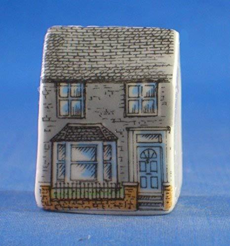 Birchcroft in porcellana China da collezione a forma di casetta, ditale---Miniatura villetta in mattoni Birchcroft China