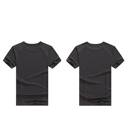 Correr la ropa de entrenamiento La camiseta de secado rápido de la camiseta de manga corta