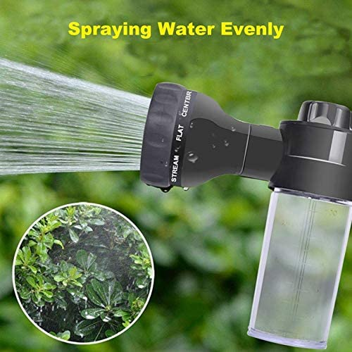 Car Foam Sprayer+4 Adapter with 8 Water Patterns for Cars Washing,Pets Shower Plants Watering with 3.5Oz//100Cc Bottle,Garden Hose Nozzle Sprayer TOOGOO Adjustable Foam Sprayer