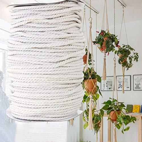 FidgetKute 4mm Beige Macrame Rope Cotton Twisted Cord Artisan Hand Craft DIY 100/300M Sale 300M by FidgetKute (Image #3)