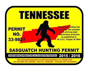 Tennessee sasquatch hunting permit license for Fishing license tn