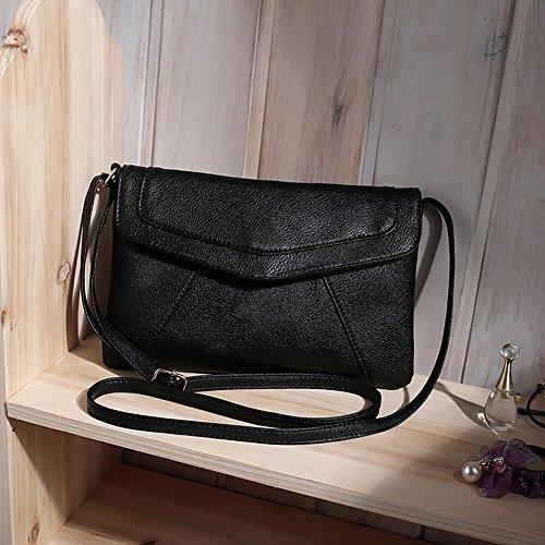 Womens Bag Satchel Purse Black Leather Handbags Paymenow Envelope Storage fqBFFZH