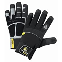 West Chester 96650 Yeti  Sythetic Leather Work Glove, Black, XL (1 Pair)