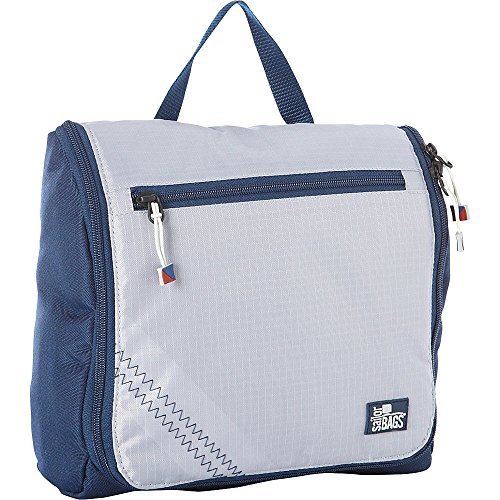 SailorBags Silver Spinnaker Sundry Bag (Silver with Blue Trim)