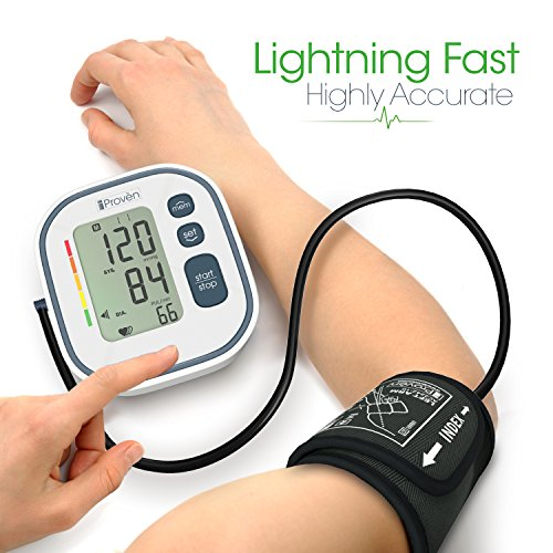 Digital Automatic Blood Pressure Monitor - Upper Arm Cuff - Large Screen - Accurate & Fast Reading Electronic Machine - Top Rated BP Monitors and Cuffs - FDA Approved - iProvèn BPM-634 - for Home Use by iProvèn (Image #2)