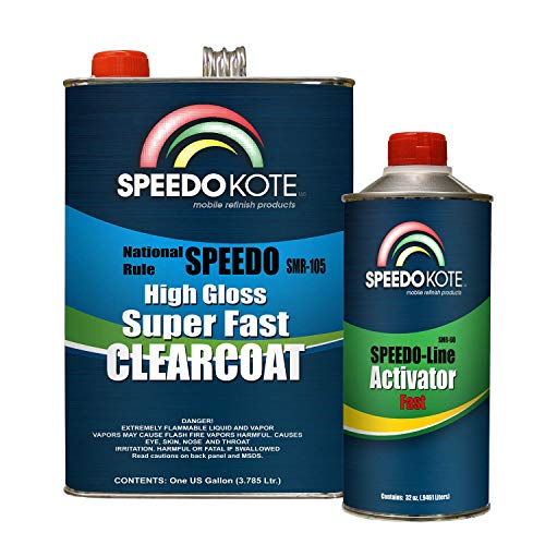 Speedokote Mobile Refinish Clear Coat High Gloss Super Fast Clearcoat Gallon Kit SMR-105/60 by Speedokote (Image #1)