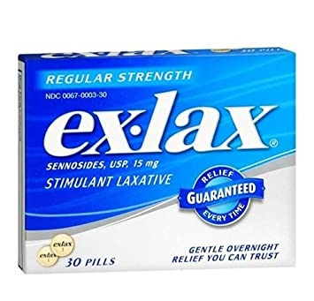 Ex-lax Regular Strength Stimulant Laxative, 30 Pills per Box (2 pack)