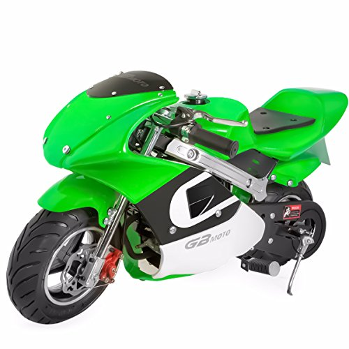 V-Fire 4-Stroke 40CC Kids Gas Pocket Bike (EPA Registered), Green