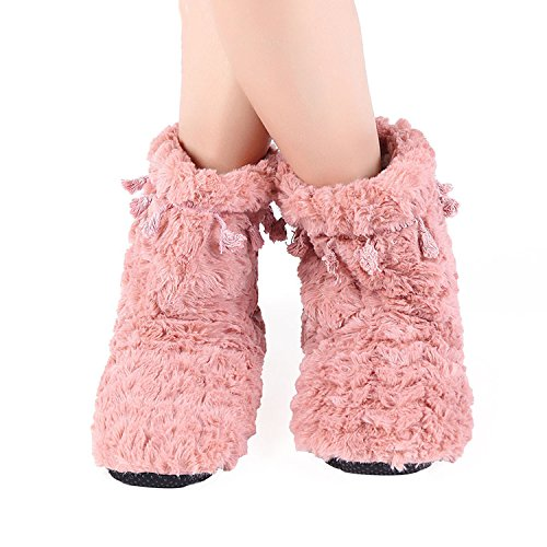Ful Women Baolustre Cotton Slippers Home Gray Winter Slippers Warm Sheep AfWptcqpO7