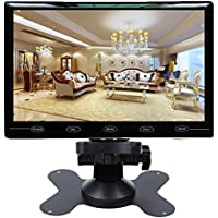 CAIRUTE 9 Inch Ultra Thin 16:9 HD 1024600 TFT LCD Color Car Rear View Monitor 2 Video Input DVD VCD Headrest Vehicle Monitor Support Audio + Video + HDMI + VGA