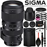 """Sigma 50-100mm f/1.8 DC HSM Art Lens for Nikon F - 8PC Accessory Bundle Includes 3PC Filter Kit (UV, CPL, FLD) + Variable Neutral Density Filter (ND2-ND400) + 72"""" Monopod + Lens Cap Keeper + MORE"""