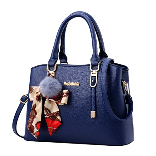 Bleu épaule Poches foncé YAANCUN Main Supérieure Femme à Poignée Mesdames Mode Sac Multiples fqqPxBXU