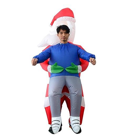 Disfraz de Papá Noel inflable de temporada genérica, muñeco de ...
