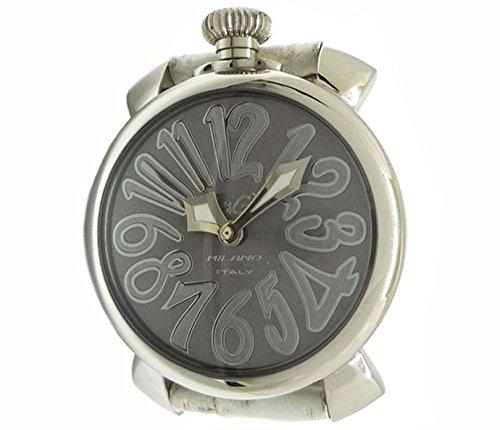 ガガミラノ マヌアーレ40 ボーイズ(男女兼用:レディース&ユニセックス)腕時計 SS×レザー(ホワイト:白) クオーツ グレー文字盤 [中古] B076P7VWPB
