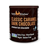 Castle Kitchen Classic Caramel Premium Dark Hot Chocolate Mix - Vegan, Plant Based, Gluten Free, Dairy Free, Non-GMO Project Verified, Kosher, Just Add Water - 400g