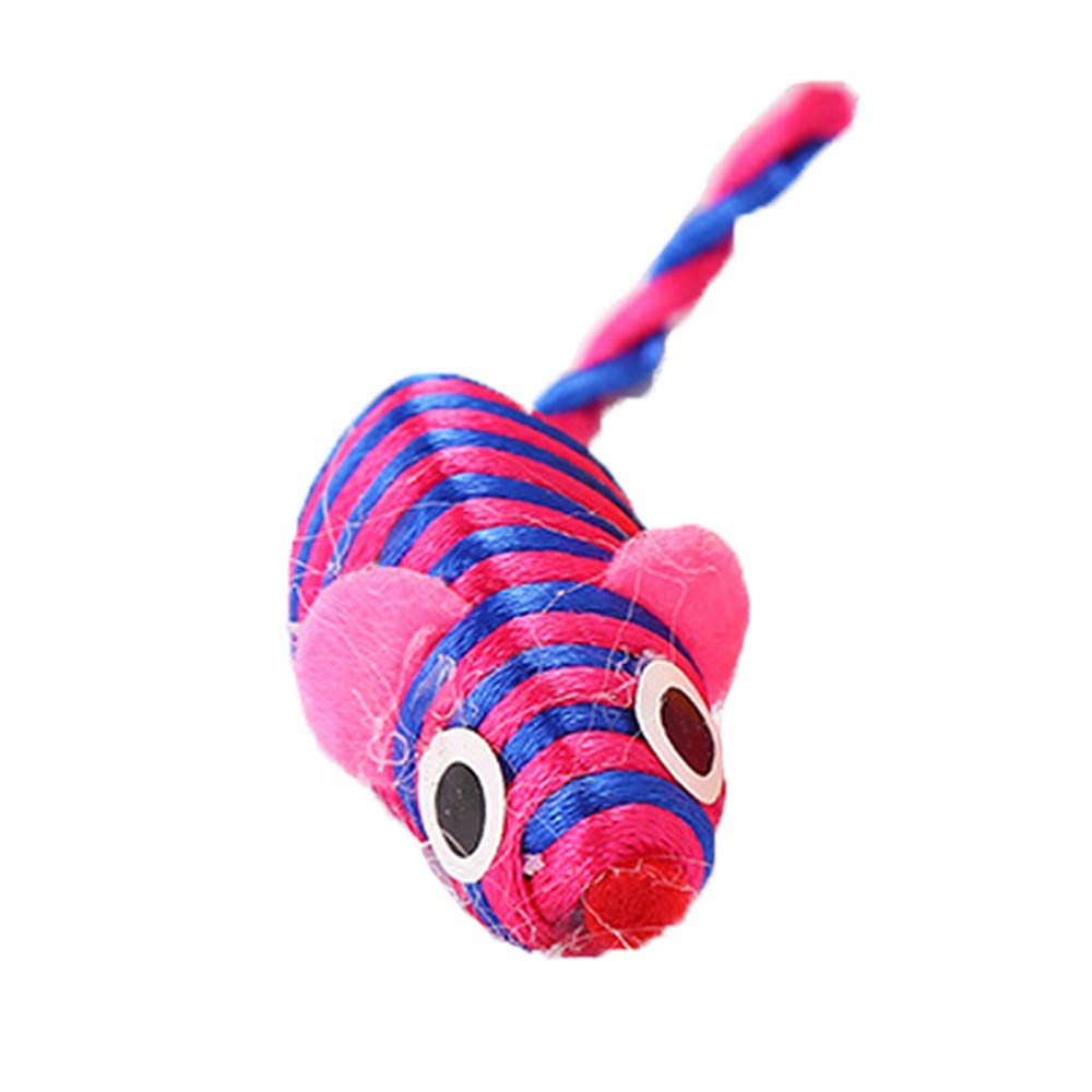 FTXJ Winding Mouse, Animal Toy Pet Rope Chew Toy Dog Cat Clean Teeth Training Tool (15 cm (Include Tail), Random Color)