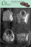 Cybrtrayd Life of the Party D090 4 Purses Fashion Chocolate Candy Mold in Sealed Protective Poly Bag Imprinted with Copyrighted Cybrtrayd Molding Instructions