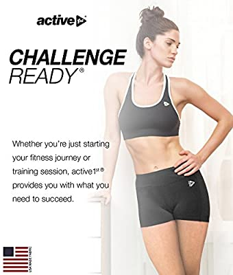 active1st Women's Yoga and Running Shorts – Soft, Compression, High Waist