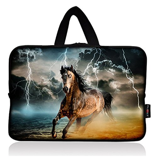 AUPET Cool Running Horse Universal 7~8 inch Tablet Portable Neoprene Zipper Carrying Sleeve Case Bag (7 Running Horses)