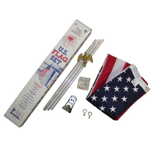 US 3x5 foot SolarMax Nylon porch flag kit - deluxe grade har