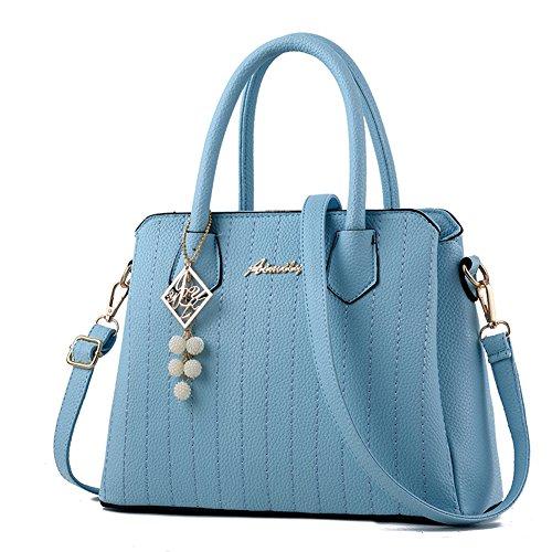 blu PU G Borsa Mano Donna pelle Fashion Borse a Bag a AVERIL borsa Designer Spalla 65H5OrBqw