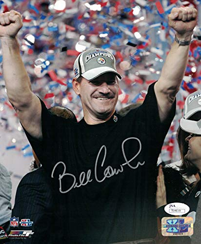 (Bill Cowher Autographed Signed Pittsburgh Steelers 8x10 Photo - JSA Certified)