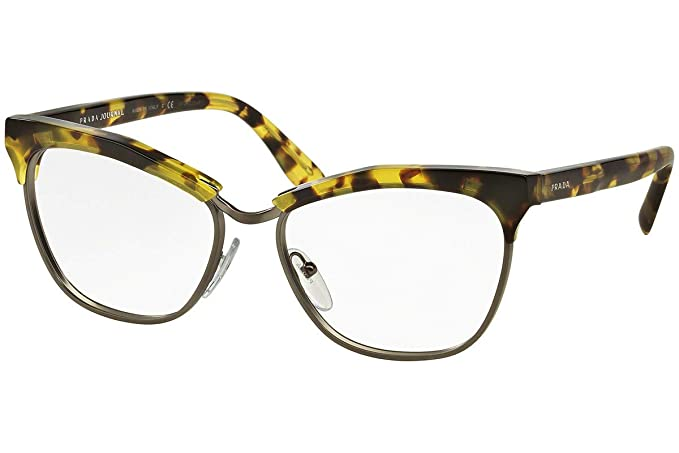 6235f0bc24 Prada Journal PR14SV Eyeglasses 53-16-140 Yellow Havana w Demo Clear ...