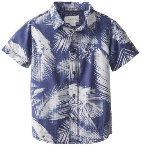 Diesel Boys 2-7 Ckiffo Hawaiin Print Short Sleeve Button Front Shirt