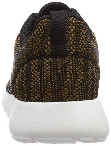 NikeRosherun Knit Jacquard - Zapatillas de Deporte mujer dorado - Or (bronzine/black/sail)