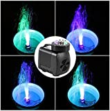 Adsled Water Fountain 25W High Pump with 12 LED Light Cord for Aquarium Fountain Fish Tank Pool Garden Pond