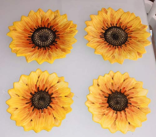 Maxcera Sunflower Dinner Plates-Yellow