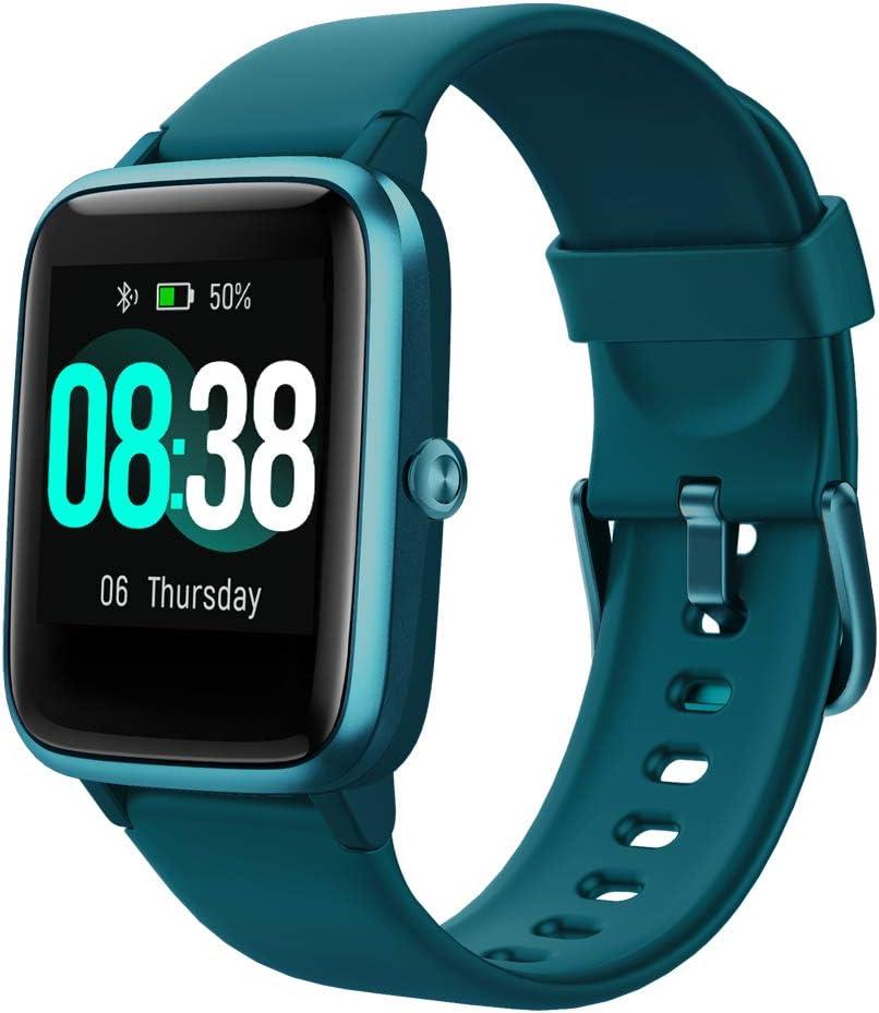 YONMIG Reloj Inteligente Mujer y Hombre, Smartwatch Impermeable IP68 Pulsera Actividad Deportivo con Monitor de Sueño, Pulsómetro, Pantalla Táctil Completa Reloj Fitness para Android y iOS (Verde)