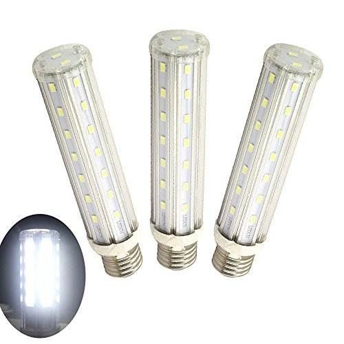 15W LED T10 Tubular Light Luxvista Medium Screw Base E26 LED Corn Bulb Daylight 6000K for Home Street Garage Kitchen Bathroom Porch Lighting 120W Halogen Equivalent Non-Dimmable (3-pack) (Tubular Outdoor Light)