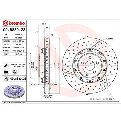 Brembo 09.8880.23 Front Disc Brake Rotor ()