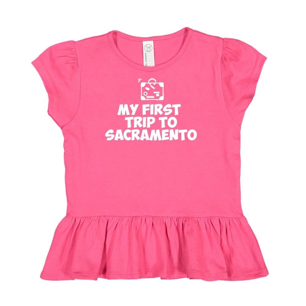 Mashed Clothing My First Trip to Sacramento Toddler//Kids Ruffle T-Shirt