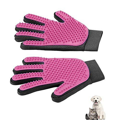 WeTest 1 Pair Pet Grooming Glove – Gentle Deshedding Brush Glove – Efficient Pet Hair Remover Mitt – Enhanced Five…