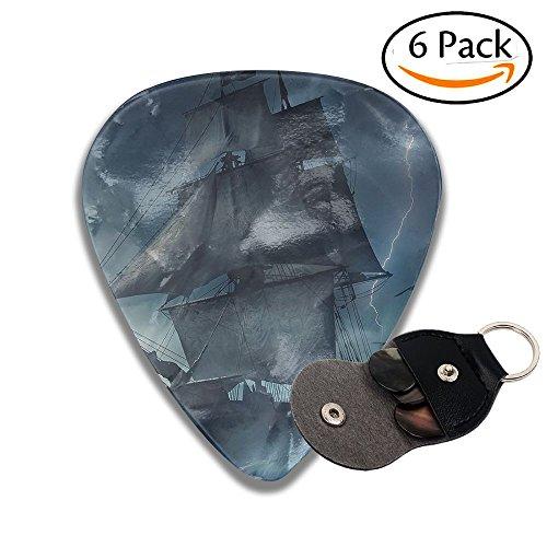 Lightning Sailboat - Karen Felix Classic Guitar Pick (6 Packs) Lightning Sailboat Celluloid Guitar Picks Plectrums For Guitar Bass