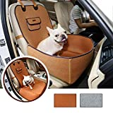 Flower cat pet bag Waterproof Travel Carrier For Dogs Cats Folding Car Basket Cover Booster Outdoor Pet Bag,45x45x60cm,Coffee