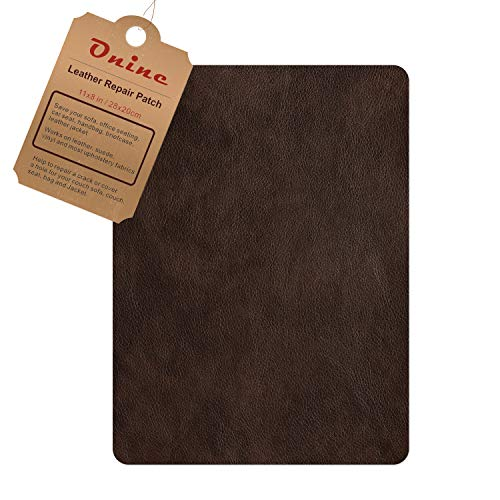 Leather Repair Patch,Self-Adhesive Couch Patch,Multicolor Available Anti Scratch Leather 8X11 Inch Peel and Stick for Sofas, car Seats Hand Bags Jackets(New Dark Brown)
