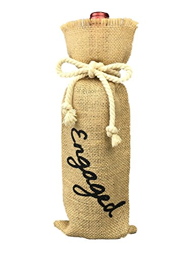 Find Bargain Engagement Party Decorations, Burlap Wine Bag Engagement, Burlap Wine Bottle Gift Bag w...